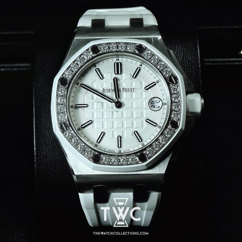 LADIES ROYAL OAK OFFSHORE QUARTZ DIAMOND