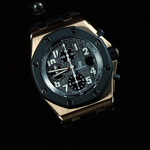 ROYAL OAK OFFSHORE RUBBERCLAD ROSE GOLD 'F'