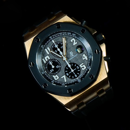 ROYAL OAK OFFSHORE RUBBERCLAD ROSE GOLD 'G'